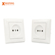 Get free sample smart home white 16a 250v 82*92mm wall switch eu type oem electric socket outlet low price