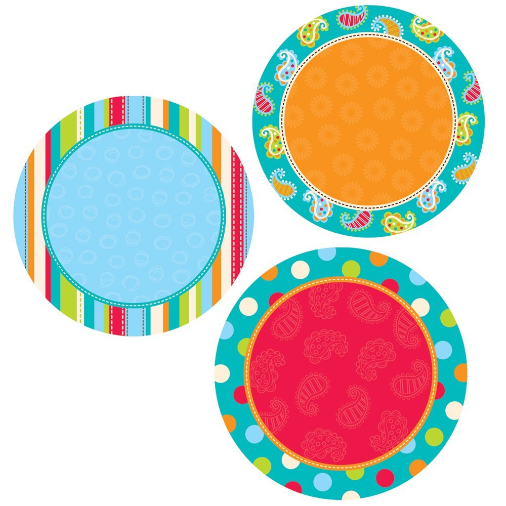 Creative Teaching Press Dots on Turquoise Dots 10-Inch Jumbo Designer Cut-Outs (7030)