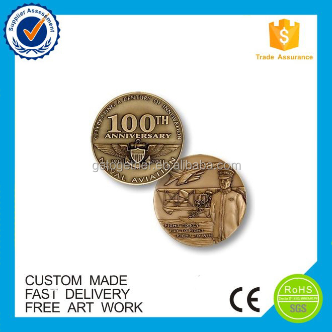 2017 custom fashion countries metal Double sided antique enamel coin