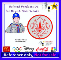 Embroidery patch for Boy/Girls Scout Uniform