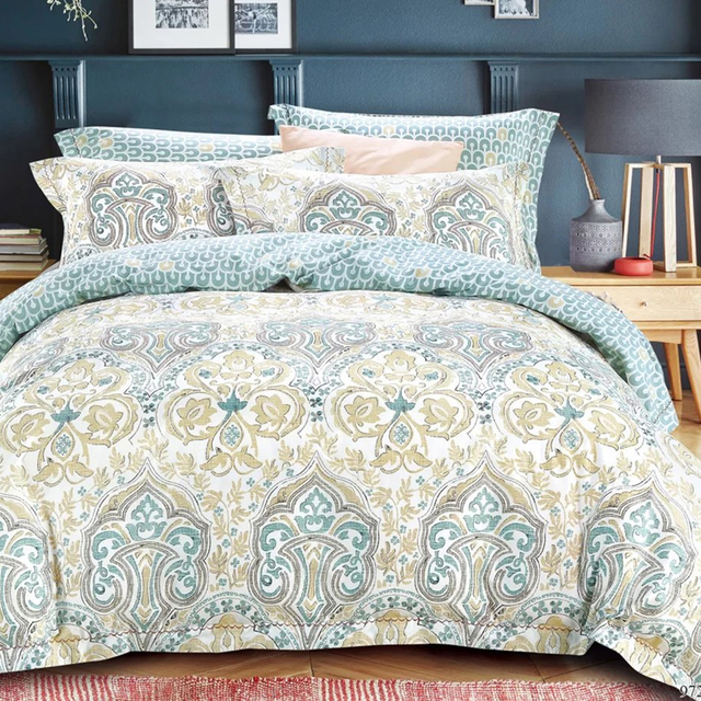 Indian Design Bedding Sets Wholesale Printed Fitted Bed Sheet 100% Cotton
