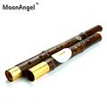 Yunnan Natural Purple Bamboo Bawu Vertical Playing Flute F G Key Flauta Bawu Chinese Instrument