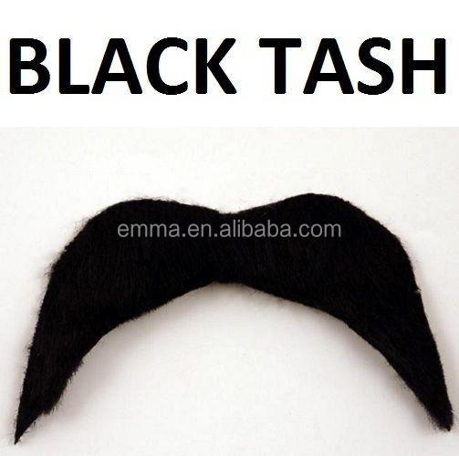 Fake Mustache Black Mexican 70/'s Stick on Fake Mustache Self Adhesive Tash 6 OR