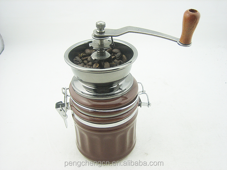portable stainless steel industrial hand coffee bean grinder