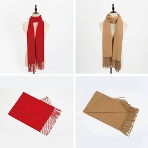 High Quality Custom Scarf Happy New Year Scarf Red Color Cashmere Scarf