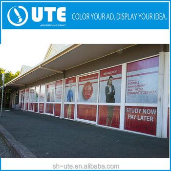 Full color adhesive pvc vinyl glass door sticker printing