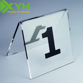 Professional Custom Design Acrylic Table Number Stand For Restaurant - Custom restaurant table numbers