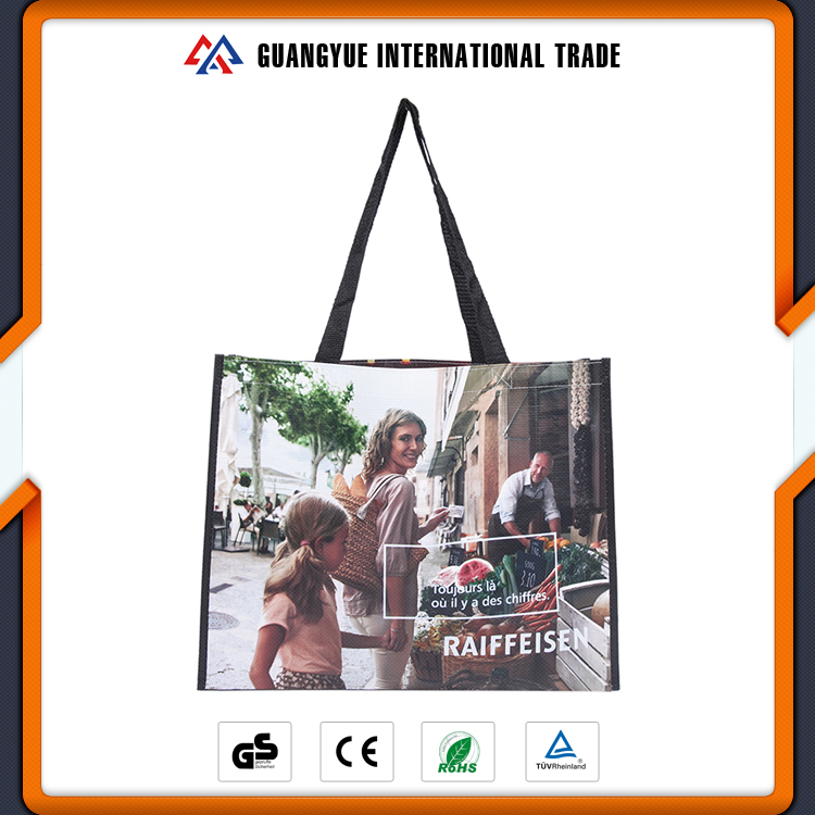 Guangyue Fashion Large Size RPET Non Woven Laminated Shopping Bags