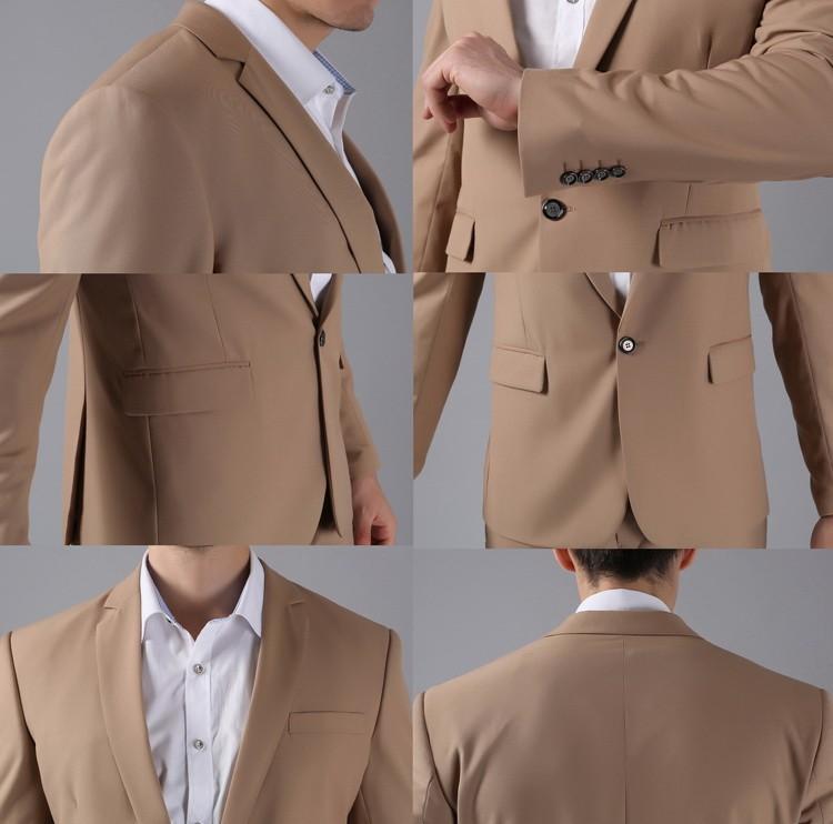 (Kurtki + Spodnie) 2016 Nowych Mężczyzna Garnitury Slim Fit Niestandardowe Garnitury Smokingi Marka Moda Bridegroon Biznes Suknia Ślubna Blazer H0285 80