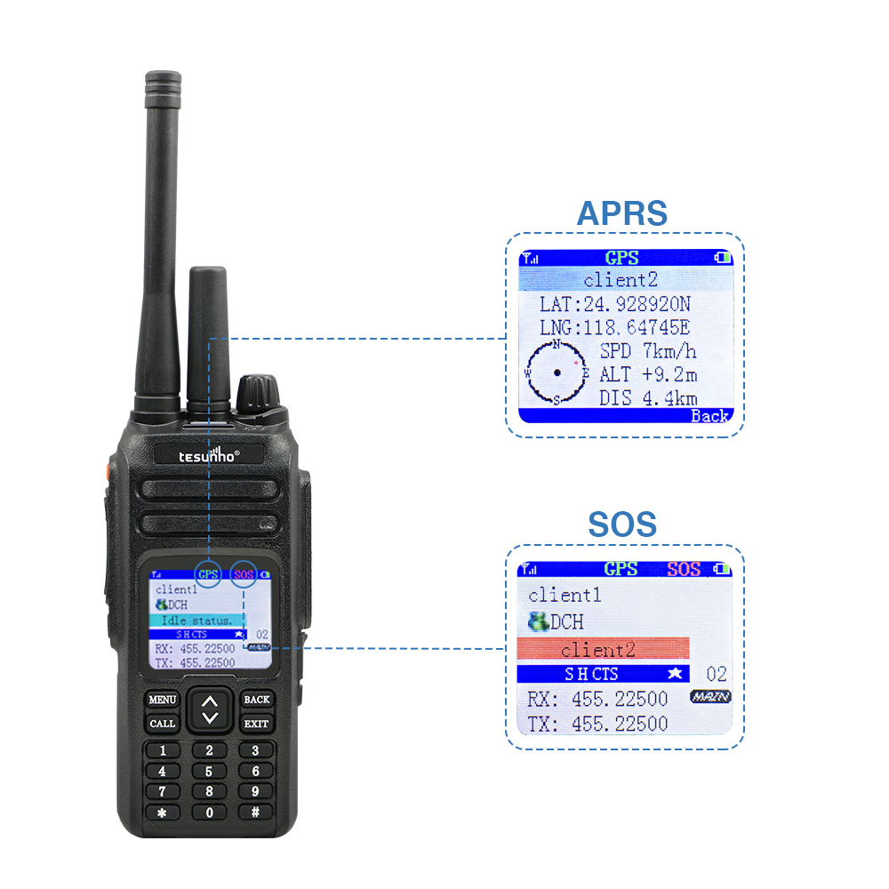 commercial uhf radio long distance handy 5w ce approval PTT solution