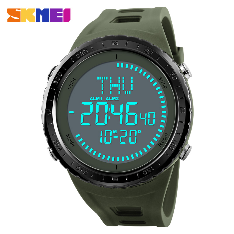 Men's Watches Digital Watches Skmei 1290 Brand Mens Sports Watches 5atm Digital Outdoor Men Military Watch El Backlight Compass Wristwatches Reloj Hombre 2019
