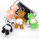 Factory toys Custom mascot images pokemon popcorn cow plush keychain pig