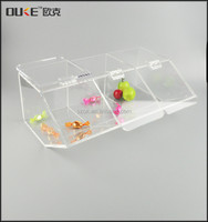 online retail store clear newly design inclined box acrylic display