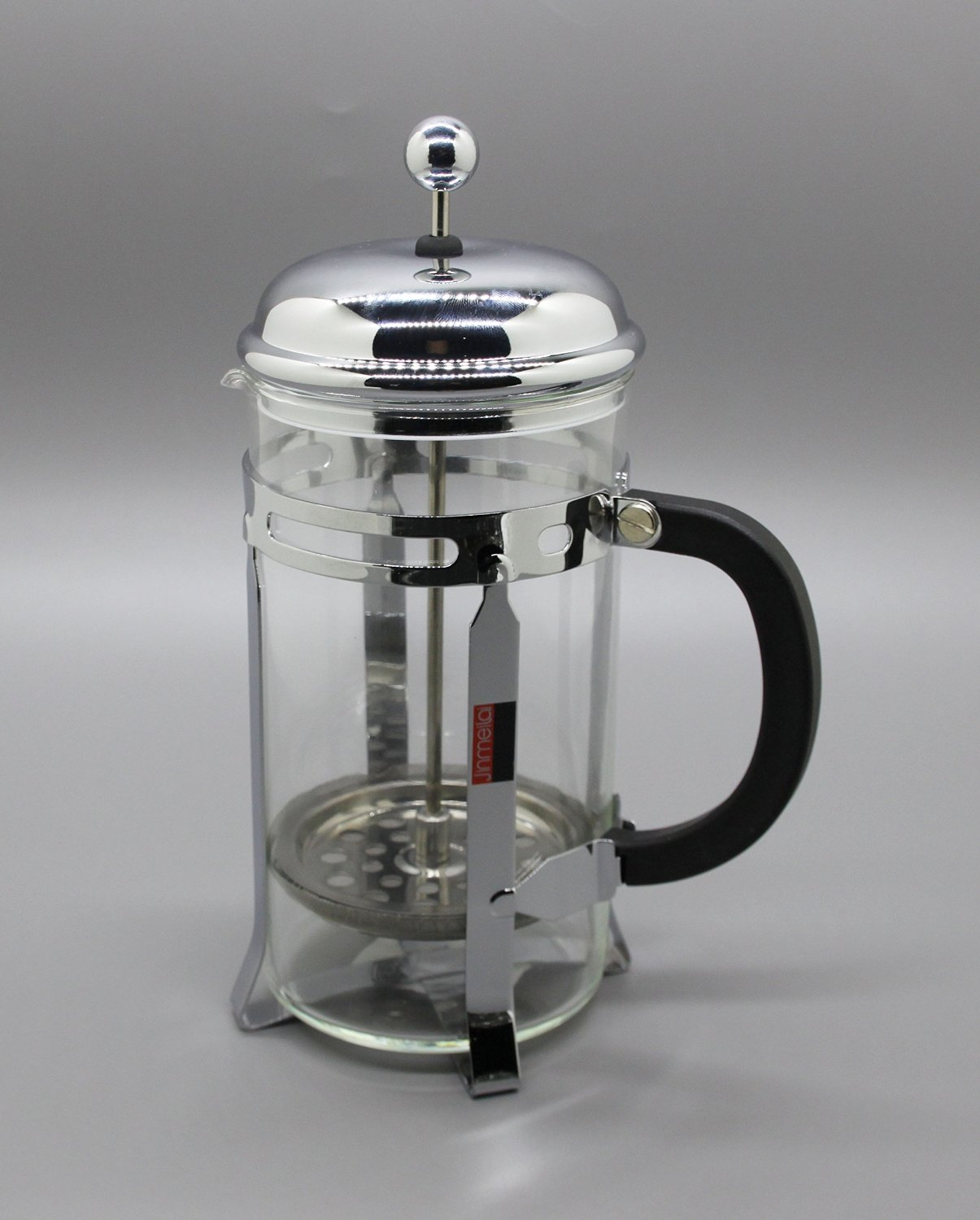FixtureDisplays Set of 3 French Coffee Press - 8 Cup/4 Mug (1 liter, 34 oz), Chrome 15915-COFFEE PRESS