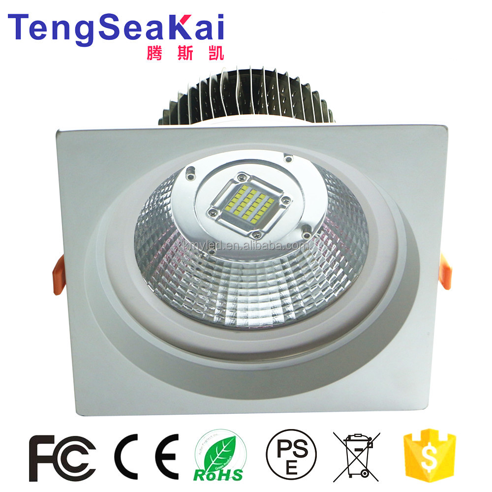 Dimmable recessed lighting retrofit 230mm 8 inch 50W 80W 100W LED Square Downlight