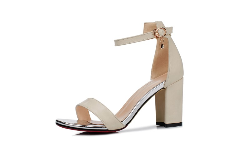 2018 fashion thick with open toe 8cm women high heels