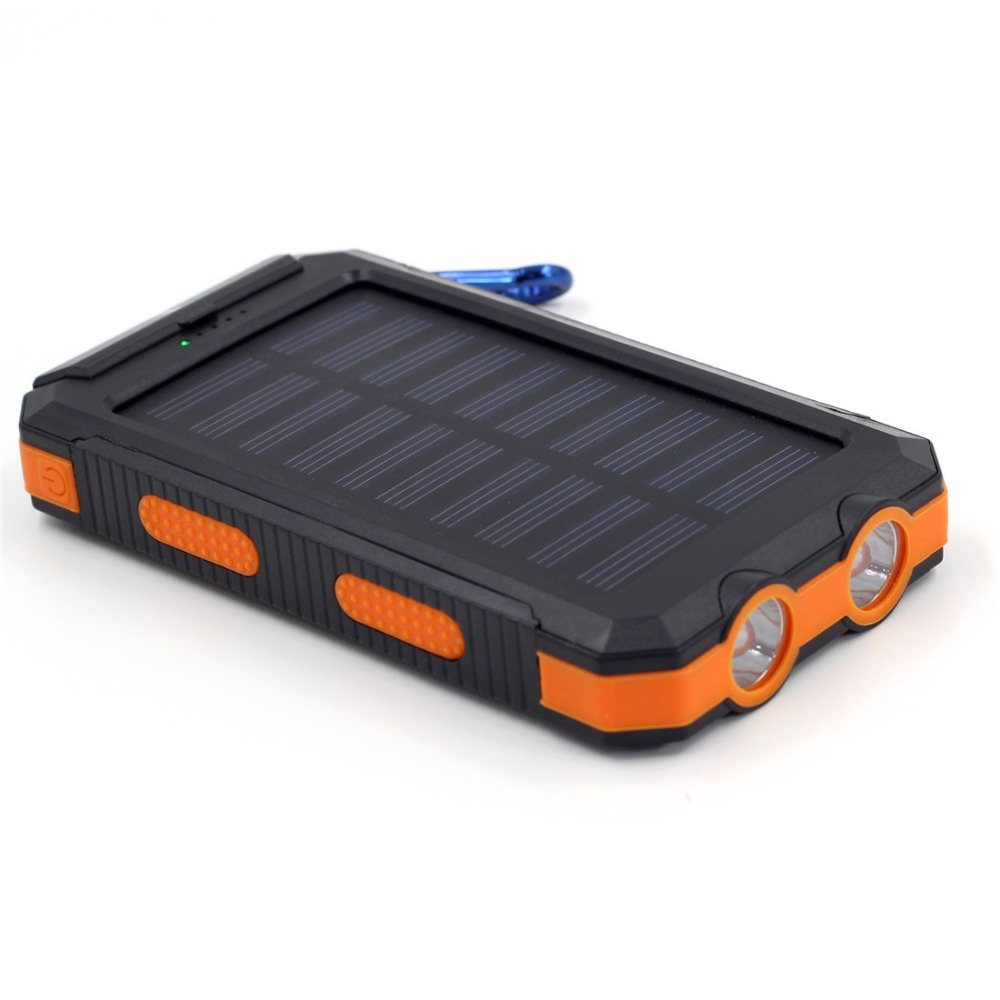 Wholesale cheap price Waterproof Solar Power Bank 10000mAh Outdoor Solar Powerbank with Led Light and compass