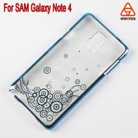 transparent electroplating case For Samsung galaxy note 4, For Samsung galaxy note 4 pc case with new totem