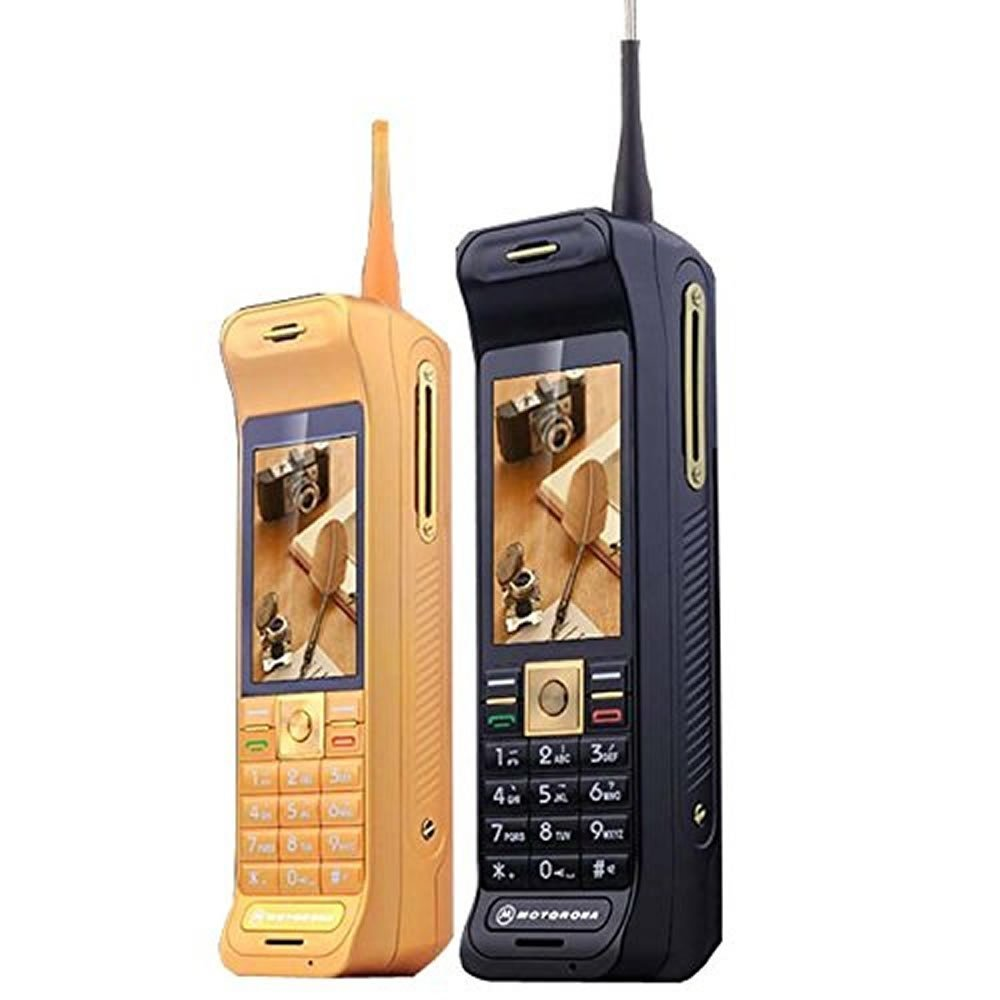 NEW Quad-band Classic Vintage Retro Touch Screen Brick Phone Dual SIM Dual Standby GSM850/900/1800/1900Mhz Mobile Cell Phone 16800Mah battery (Gold)