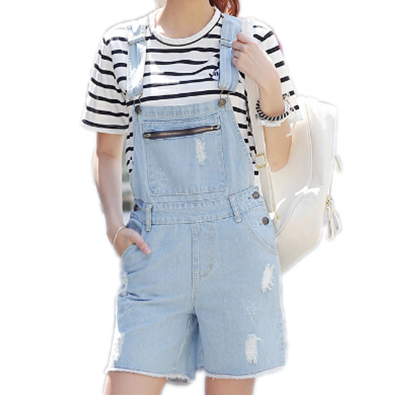 08f727dc2ef9 Get Quotations · New Arrival Women Girl Washed Jeans Denim Casual Hole Jumpsuit  Romper Overall Short