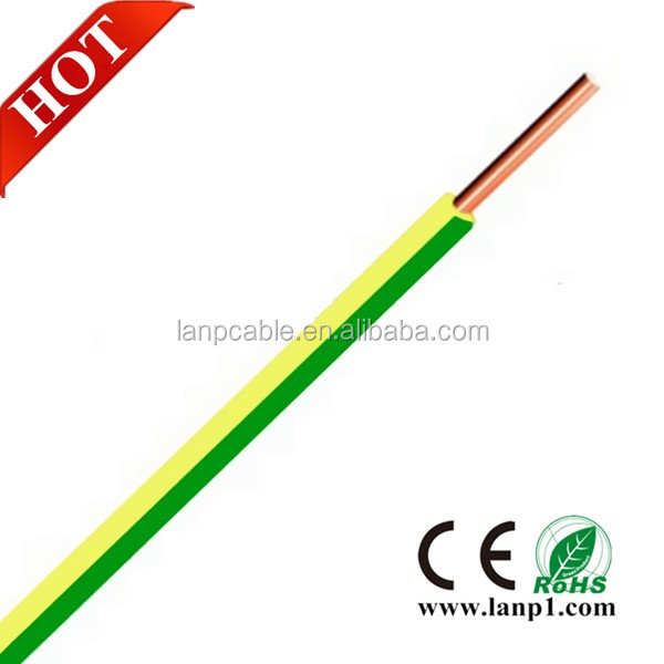 Electrical Ground Wire Color 1.5mm 2.5mm 6mm 10mm Green Yellow Color ...