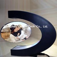 Magnev acrylic photo frame with LED light rotating