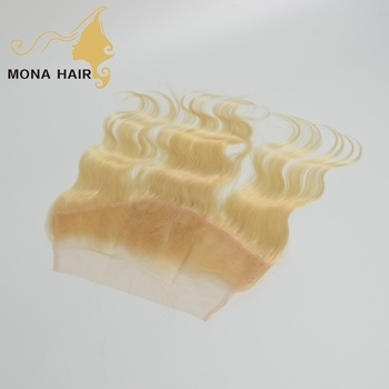 guangzhou mona hair company wholesale 613 blonde natural hair lines lace frontals transparent swiss lace frontal