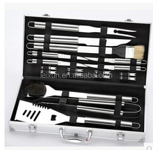 hot sale stainless steel bbq tools set with aluminum carry case