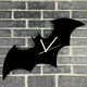 Home Decoration 3D batman black Acrylic wall clock stickers laser cut decoration for home