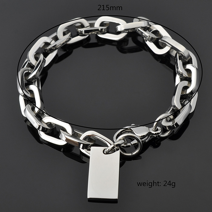 Fashion Jewelry Manufacturer Women's Custom Logo 925 Italian Silver Bracelet
