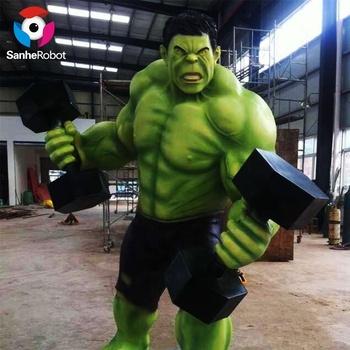 Figura di cartone animato frp personaggio dei cartoni animati hulk