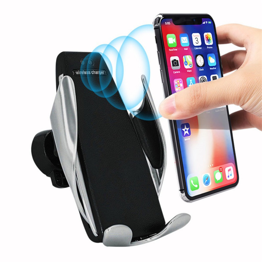 Alibaba.com / Wireless Car Charger Mount Infrared Sensor Automatic Clamp 10W Qi Fast Charge Car Wireless Charger Holder Stand Quick Charger