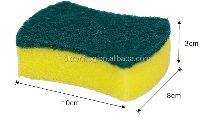 Scouring Pad with Yellow Spong For Kitchen dish washing