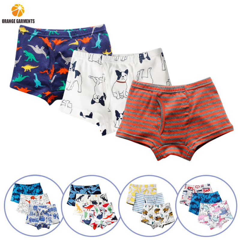 3pcs/Pack High Quality Cotton Shorts Cartoon Cute Kids Boxer Briefs Boys Children Underwear фото