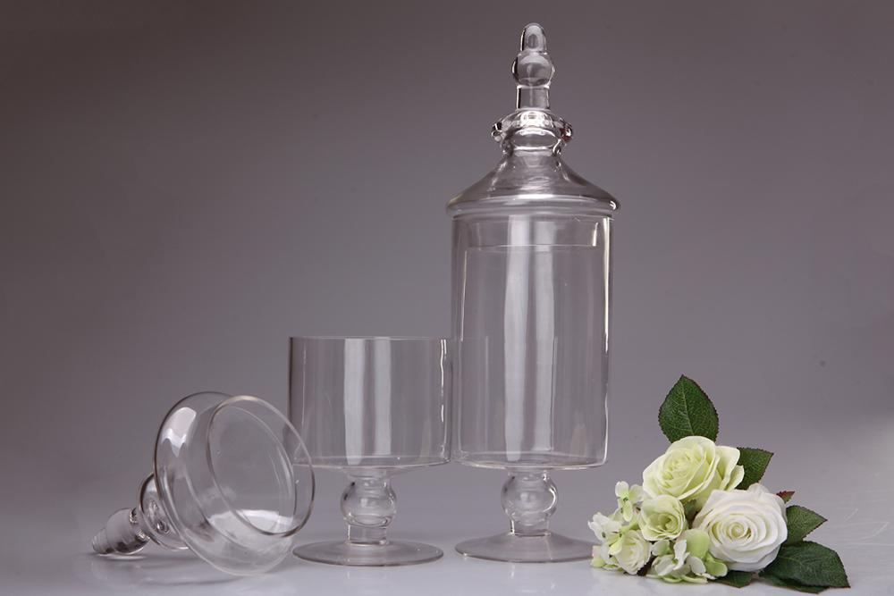 Hot Sale Clear Cylinder Glass Apothecary Jar Storage Jars