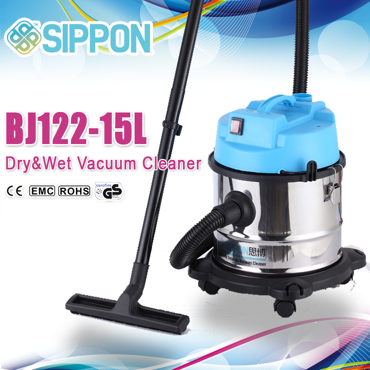 Fashionable household vacuum cleaner with blowing function and stainess body
