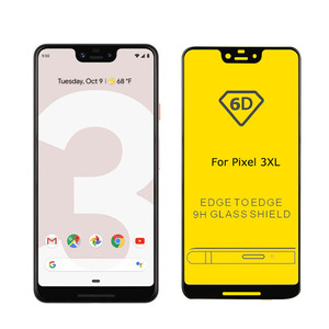 Factory Price 6D 9D Customize Bottom Plate Full Glue Top Quality Tempered glass screen protector for Google Pixel 3XL/ Pixel 3
