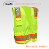 clothing protective 2016 hi vis reflective vest safety gear pocket and zipper
