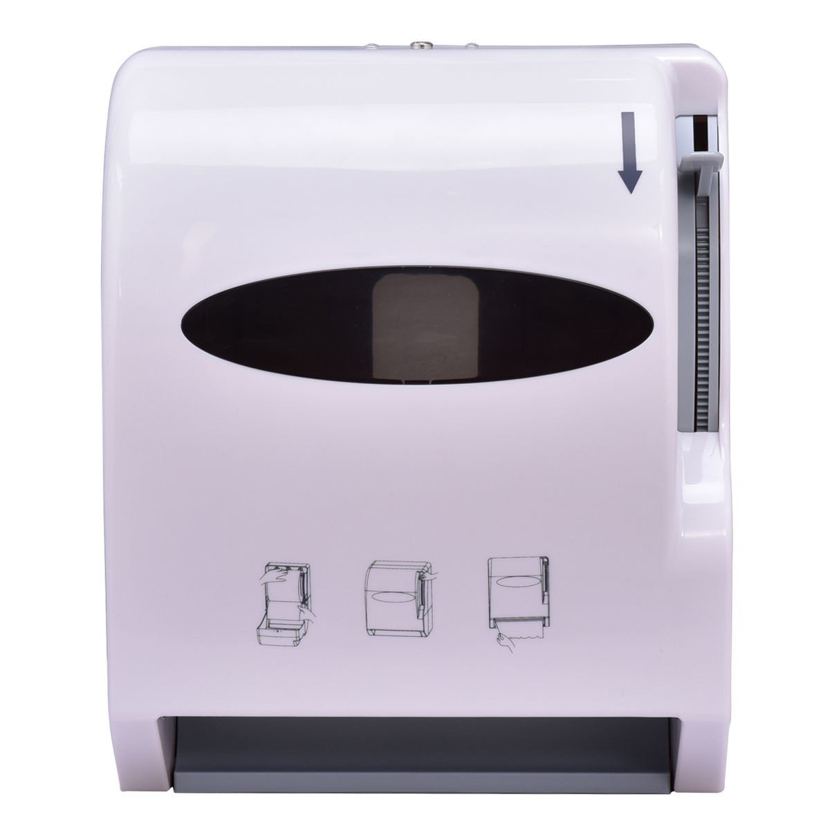BeUniqueToday Durable Wall Mount Heavy Roll Paper Towel Dispenser, White Durable Roll Paper Towel Dispenser Wall Mount Bathroom, Wall Mounted Roll Paper Towel Dispenser Space Saving and Economical