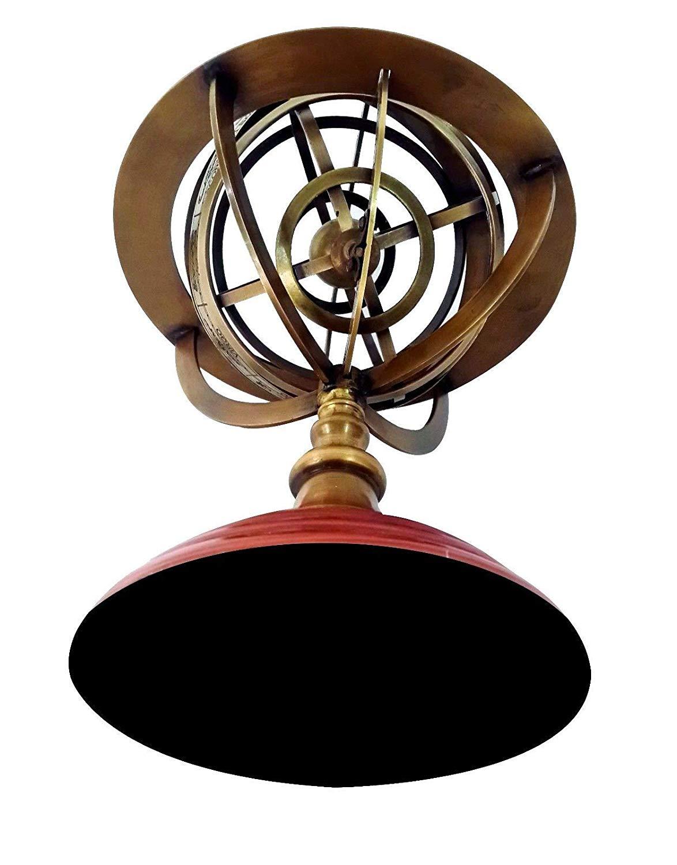 "Shaheera Nautical Solid Brass Armillary Sphere Handmade Vintage Astrolabe Table Top Armillary 12"" A"