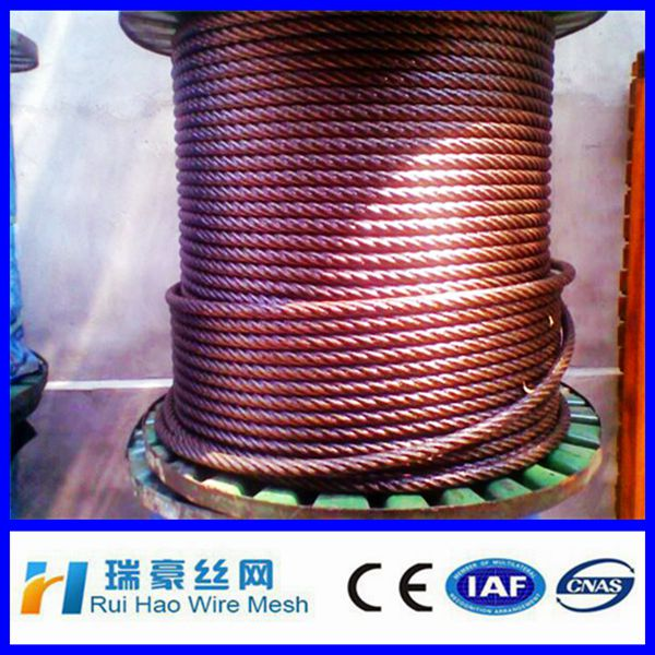 0.16mm 1*7 pvc coated stainless steel wire rope