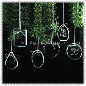 Christmas Hanging Decoration Personalized Blank Glass Custom Ornament