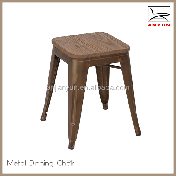 Vintage restaurant furniture stackable metal cute chair for children
