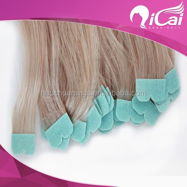 2014 Top sale blonde Russian hair M shape microTape hair extension