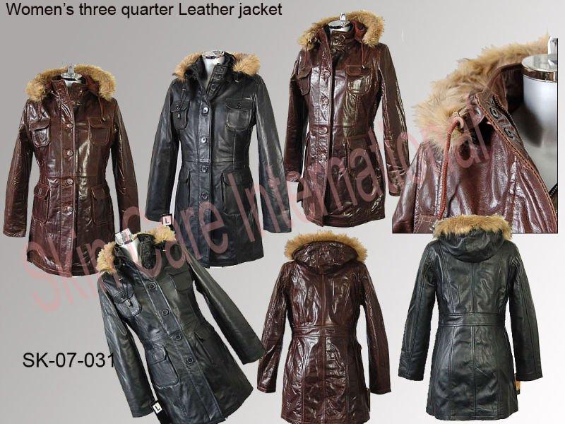chaqueta tres cuartos piel