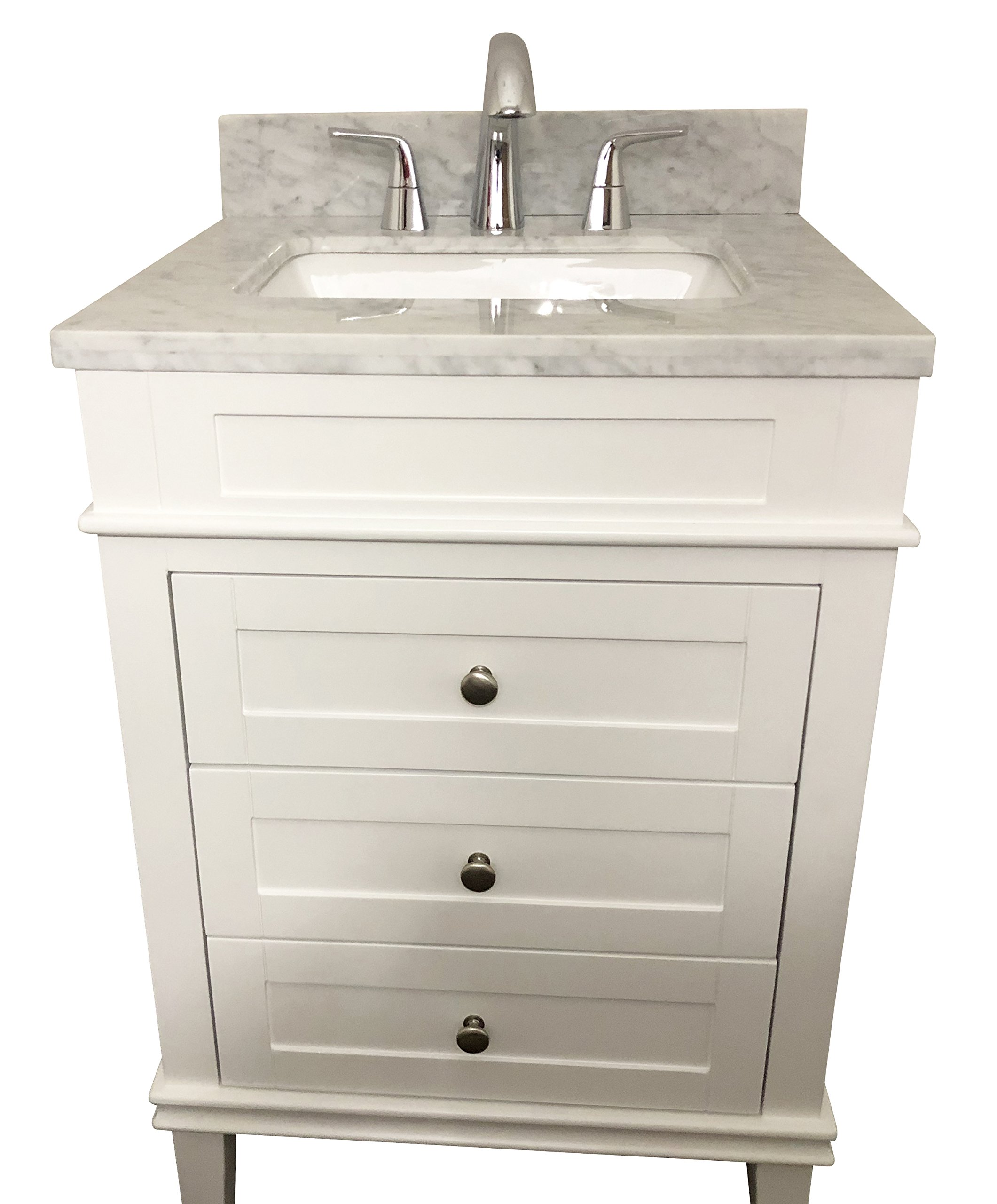 Buy 24 Bathroom Vanity Solid Wood Cabinet Stone Top Vessel