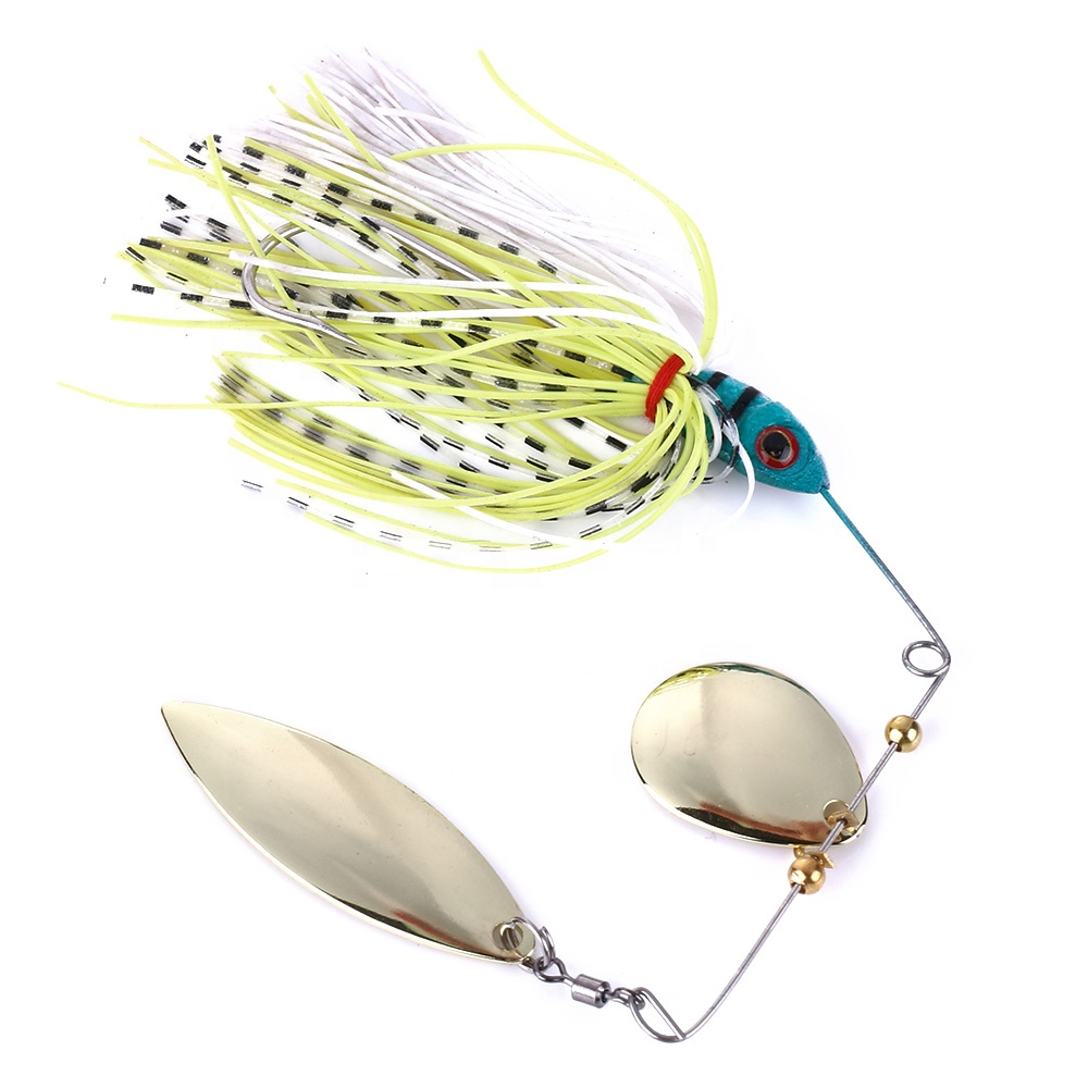 17.4G spinner bait fishing lures metal spoons Bass spinner lure