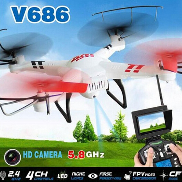 New Arrivals! Wltoys RC Quadcopter V686G HD Camera 4G Memory Card/4CH 6-Axis