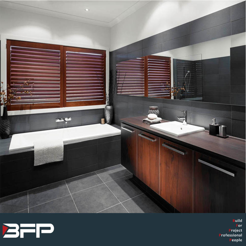 Waterproof sliding door solid woodwashroom vanity with cheap price