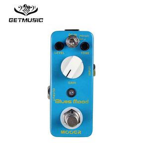Mooer Blues Mood Blues Drive Guitar Effect Pedal Wide Range Frequency Response Blues Style Overdrive Sound Also on Bass Full Met
